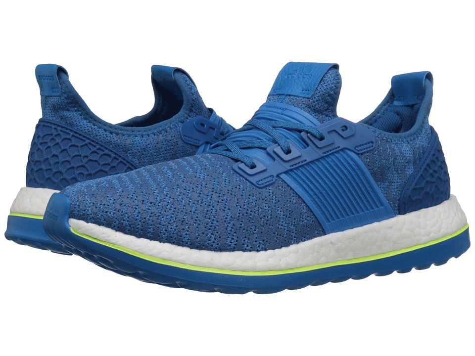 adidas Running - Pureboost ZG (EQT Blue/Shock Blue/Solar Yellow) Men's Running Shoes
