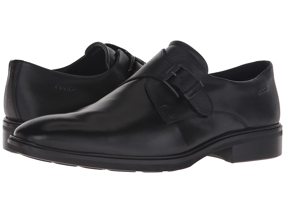 ECCO - Illinois Buckle (Black) Men's Shoes
