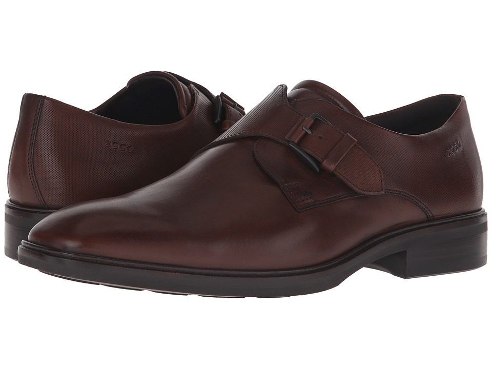 ECCO - Illinois Buckle (Walnut) Men's Shoes