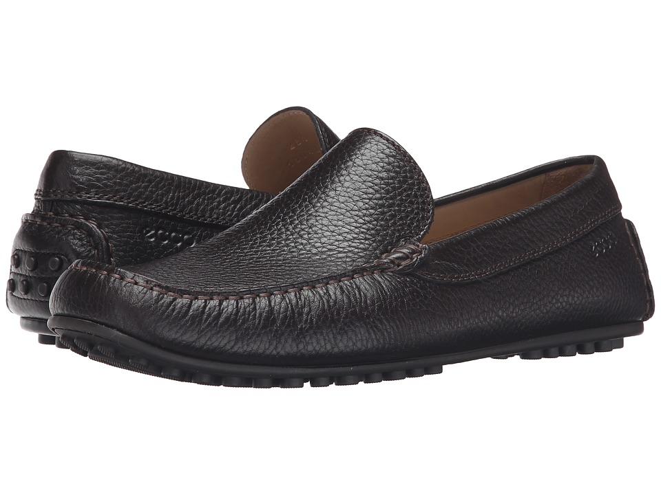 ECCO - Hybrid Moc (Mocha) Men's Moccasin Shoes