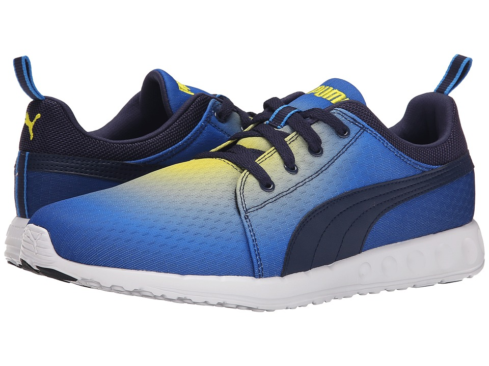 PUMA - Carson Runner Radial (French Blue/Black/Buttercup) Men's Running Shoes