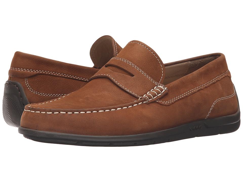 ECCO - Classic Moc 2.0 Loafer (Mahogany) Men's Slip on Shoes