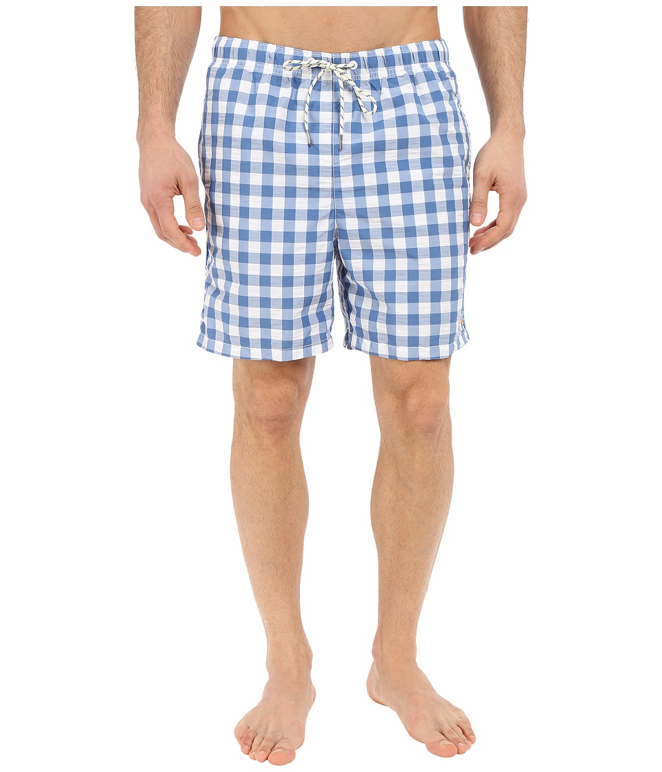 Tommy Bahama - Naples Gingham Gardens 6-inch Swim Trunk (Bengal Blue) Men's Swimwear