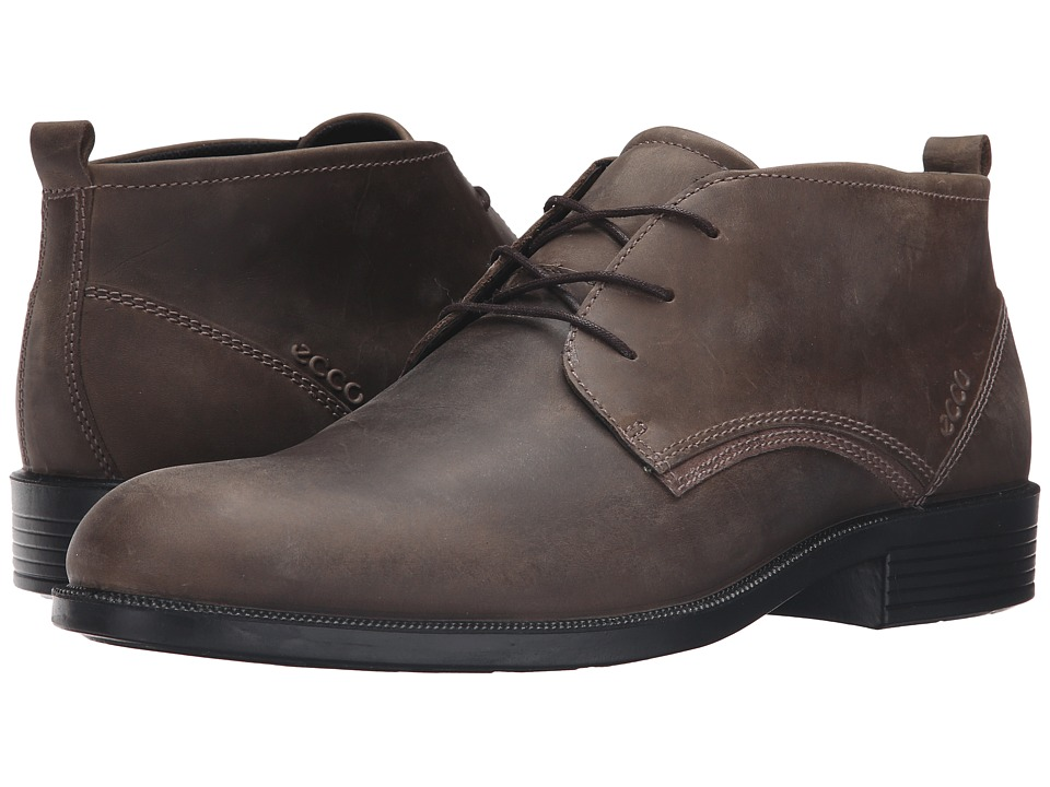 ECCO - Harold Derby Boot (Tarmac/Dark Clay) Men's Shoes