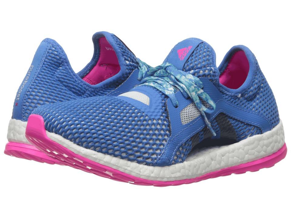 adidas Running Pureboost X (Shock Blue/Halo Blue/Shock Pink) Women