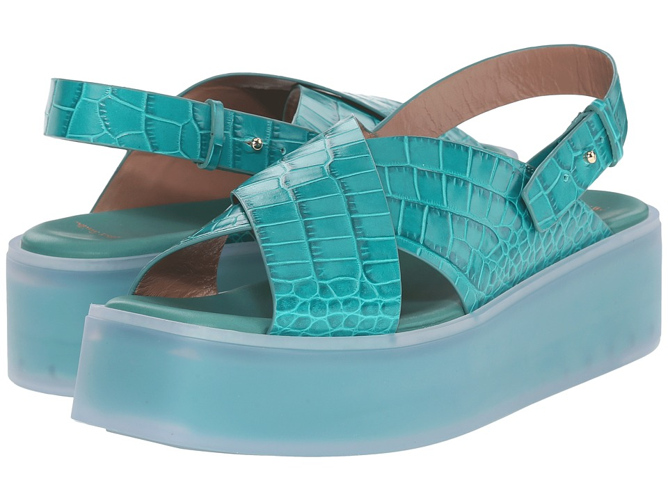 Paul Smith Runway Kai Aquatic Wedge (Aquamarine) Women