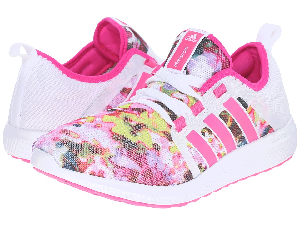 adidas - Fresh Bounce Famous (White/Shock Pink) Women's Running Shoes