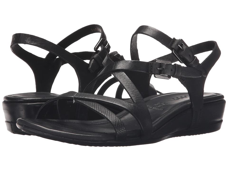 ECCO Touch 25 Strap Sandal (Black/Black) Women