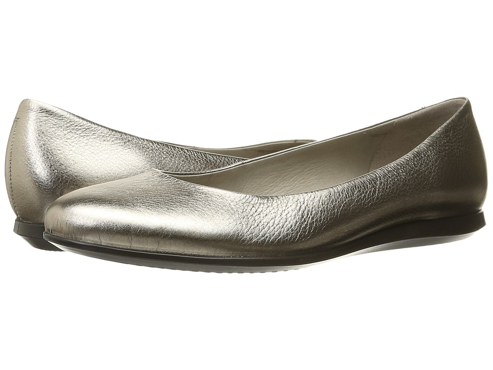 ECCO - Touch Ballerina 2.0 (Warm Grey Metallic) Women's Slip on Shoes