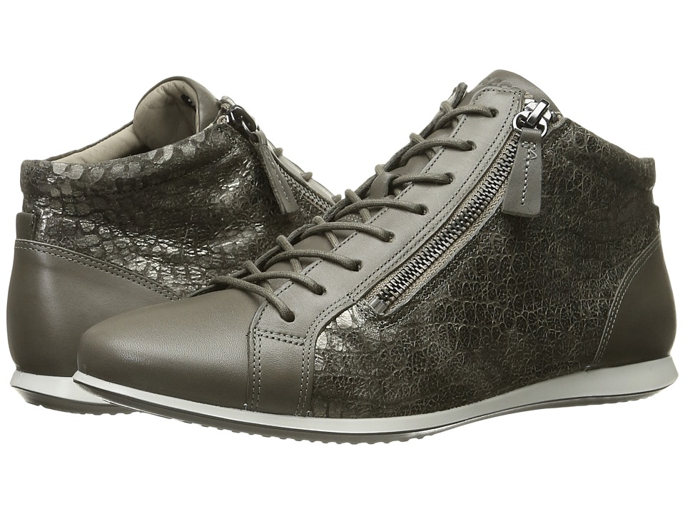 ECCO - Touch Sneaker High Top (Warm Grey/Warm Grey) Women's Lace up casual Shoes