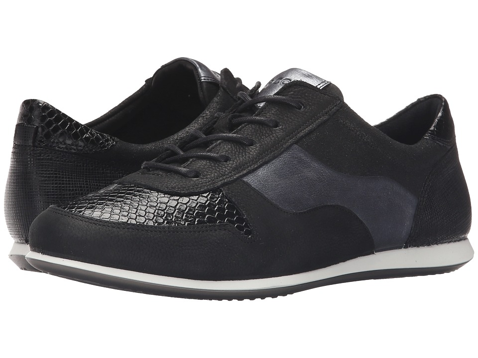 ECCO - Touch Sneaker Tie (Black/Black) Women's Lace up casual Shoes