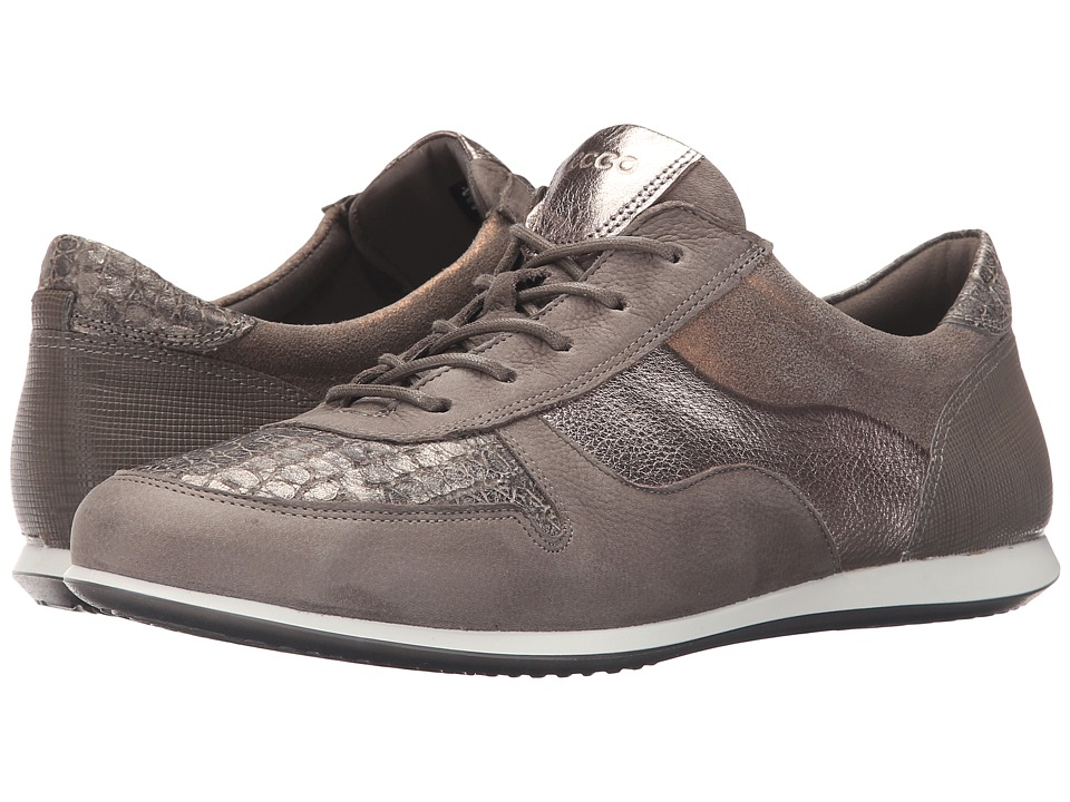ECCO - Touch Sneaker Tie (Warm Grey/Warm GreyWarm Grey Metallic) Women's Lace up casual Shoes