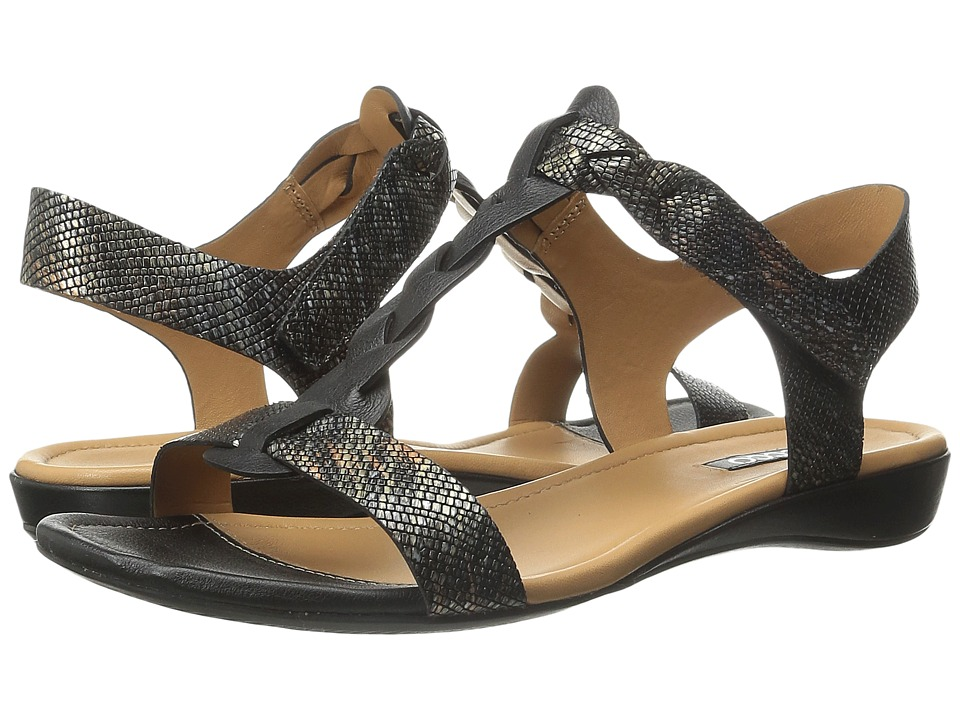 ECCO - Bouillon Knot Sandal II (Black/Black/Multi Metallic) Women's Sandals