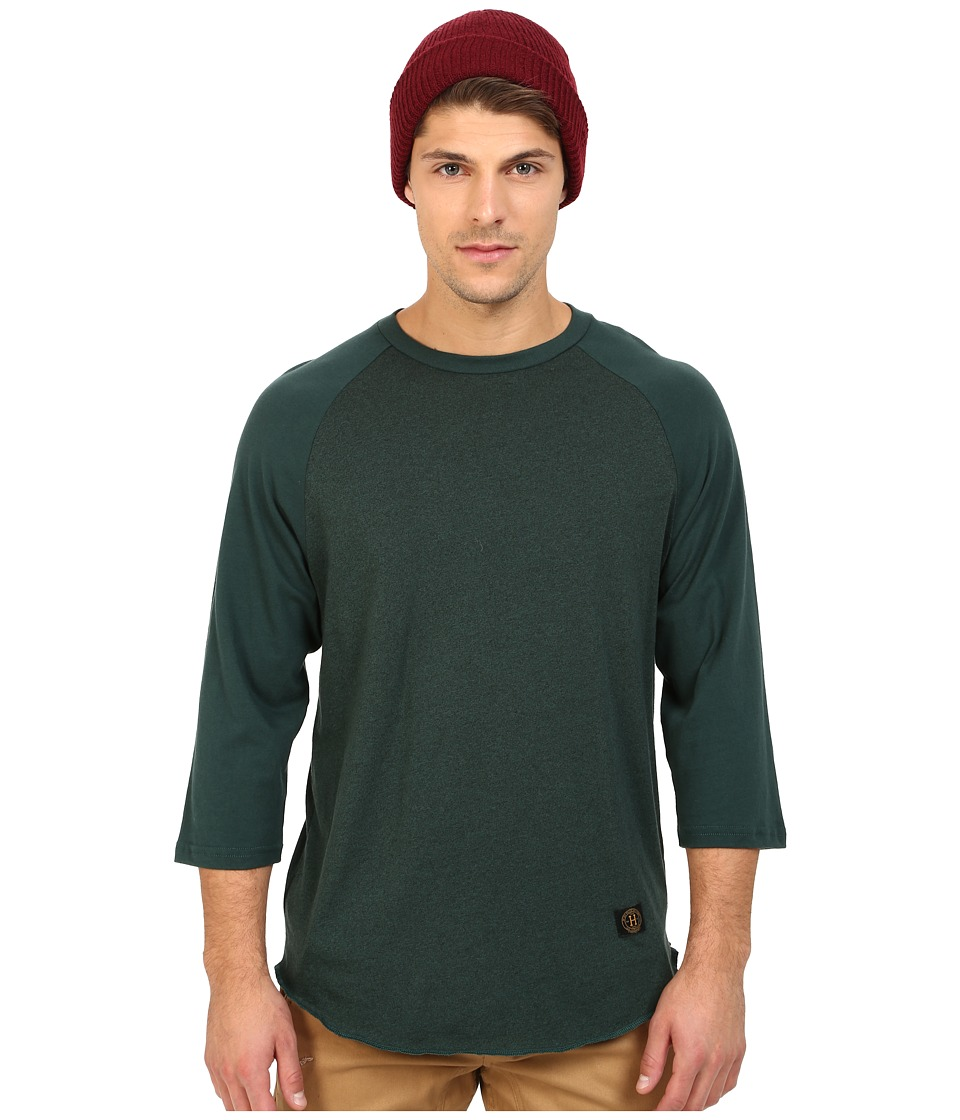 HUF - Standard Issue Raglan (Forest) Men's Clothing