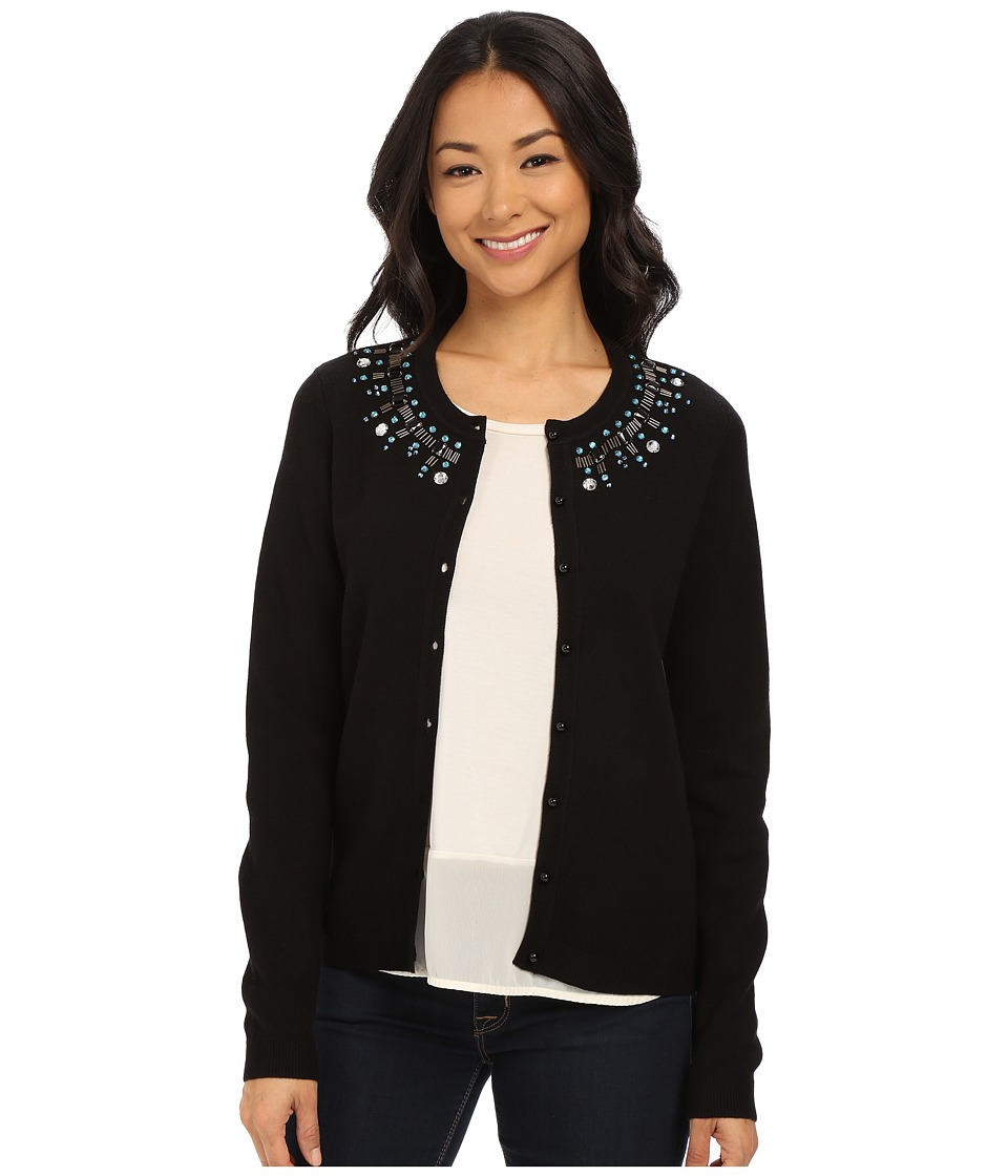 NYDJ - Sweater Key Item Cardigan (Black) Women's Sweater