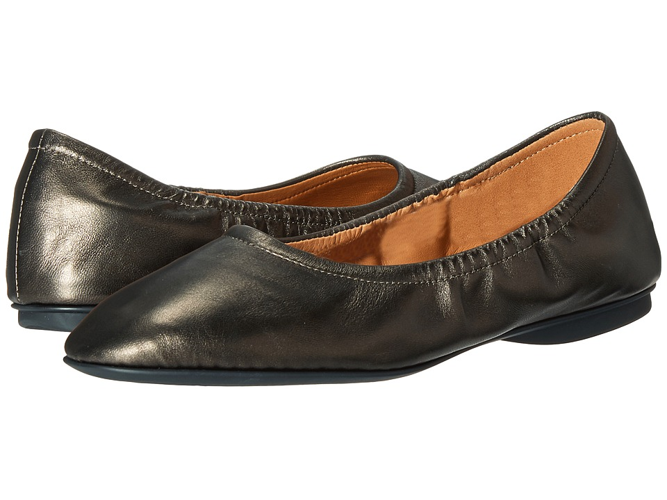 ECCO - Taisha Ballerina (Black/Bronze) Women's Slip on Shoes