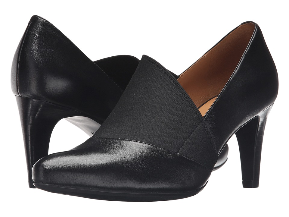 ECCO Alicante 75mm Pump (Black/Black) High Heels
