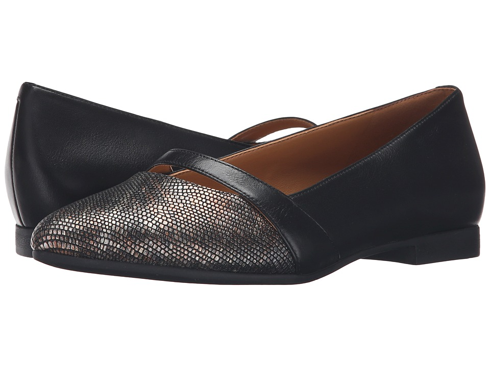 ECCO - Akita 10mm (Black/Multi Metallic/Black) Women's Slip on Shoes