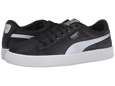 PUMA - Basket Mesh (Black/Limestone Gray) Men