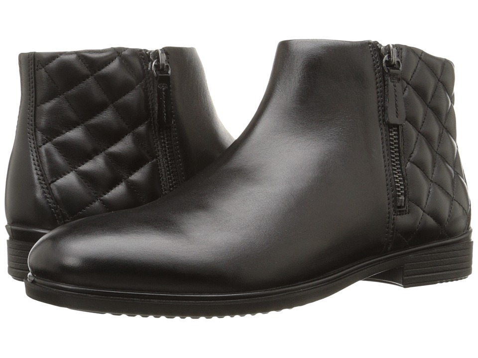 ECCO Touch 15 Quilted Bootie (Black/Black) Women