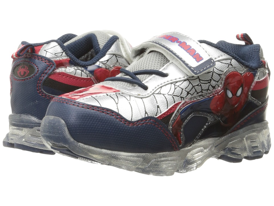 Favorite Characters - Spider-Man Sneaker Lighted (Toddler/Little Kid) (Red/Black/Grey) Boys Shoes