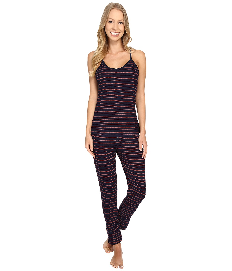 Splendid - Stripe Capris PJ Set (Navy Stripe) Women
