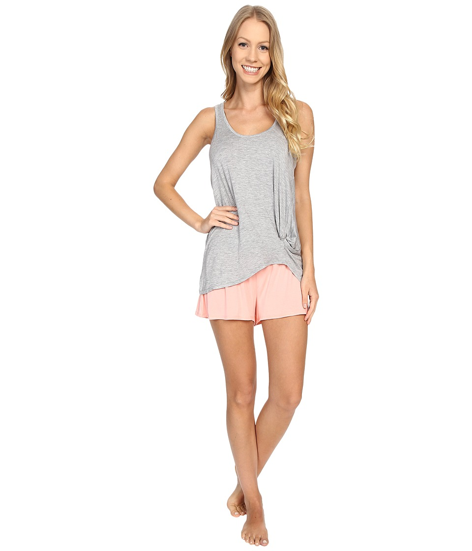 Splendid - Tank Top Shortie Set (Light Heather Gray) Women's Pajama Sets