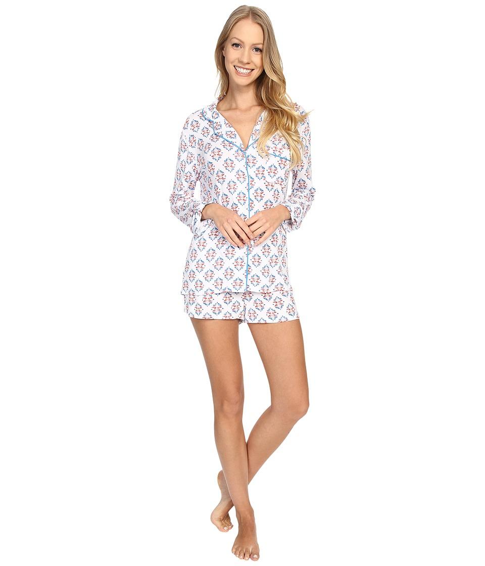 Splendid - Roll-Sleeve PJ Set (Multi Stamp) Women's Pajama Sets
