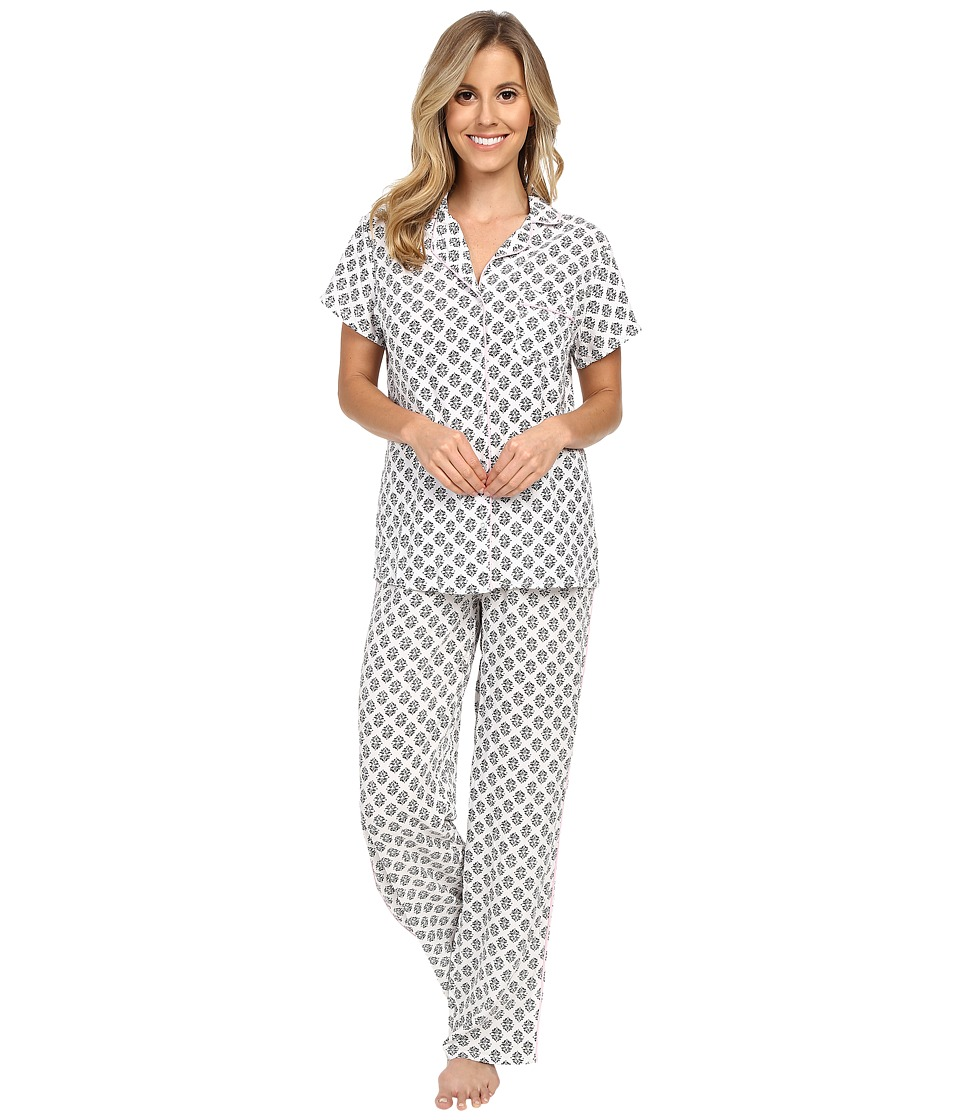 Splendid - Voile PJ Set (Vintage Stamp) Women's Pajama Sets