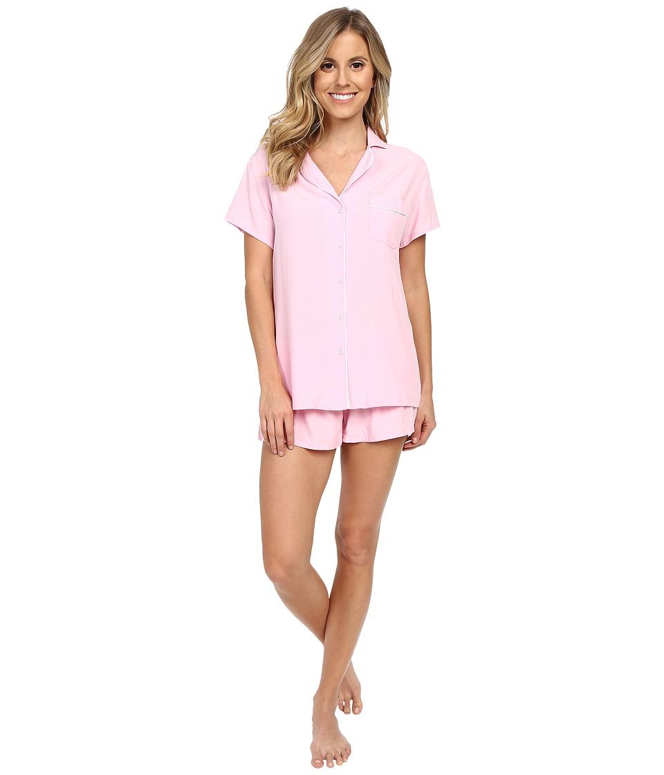 Splendid - Woven Classic PJ Set (Pink Rose) Women's Pajama Sets