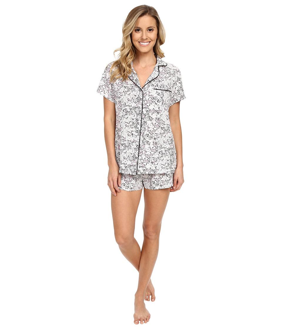 Splendid - Woven Classic PJ Set (Tropical Fleur) Women's Pajama Sets