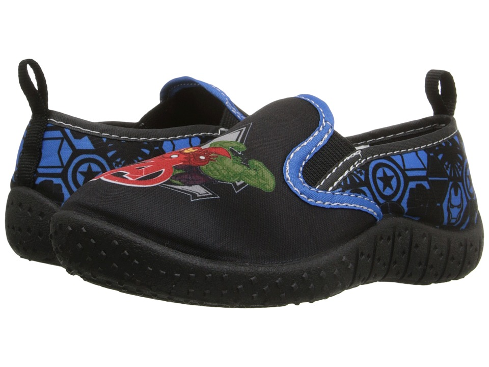 Favorite Characters - Avengers Watershoe (Toddler/Little Kid) (Black/Red/Royal) Boy's Shoes