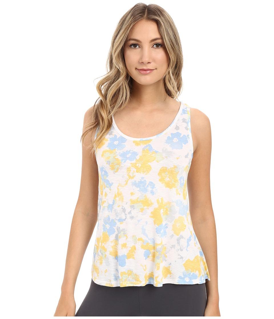 Splendid - Slub Racerback Tank Top (Sunshine Floral) Women's Pajama
