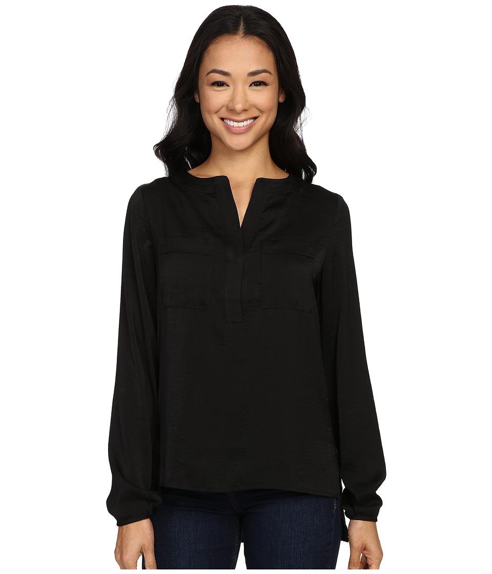 B Collection by Bobeau - Ora Two-Pocket Woven Blouse (Black) Women's Blouse