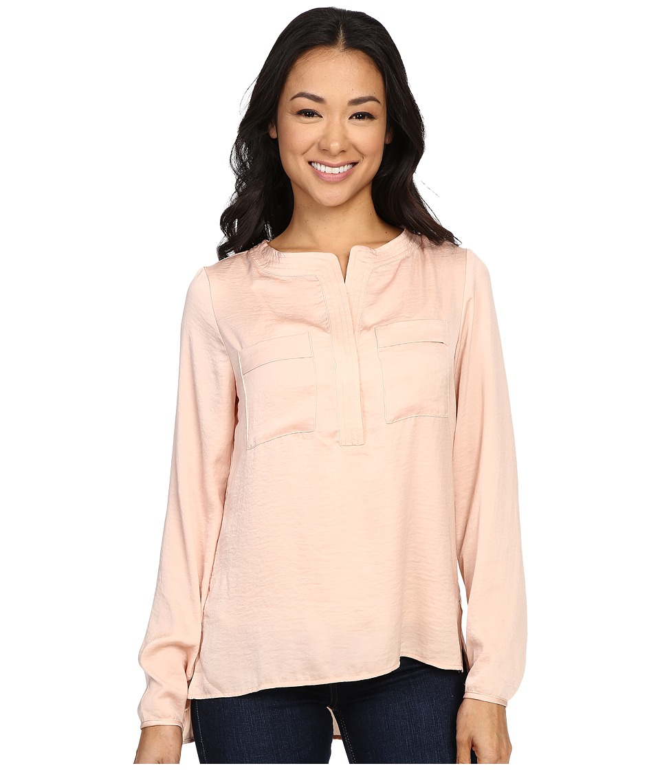 B Collection by Bobeau - Ora Two-Pocket Woven Blouse (Nude) Women's Blouse