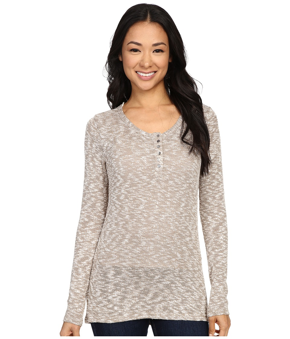 B Collection by Bobeau - Holly Knit Henley Top (Sand) Women's Sweater