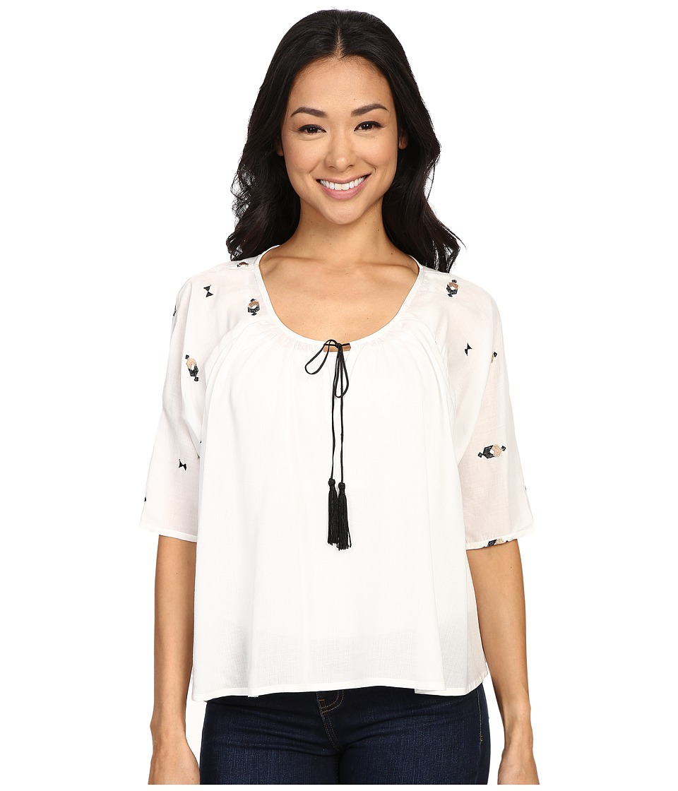 B Collection by Bobeau - Zoe Embroidered Blouse (Ivory) Women's Blouse