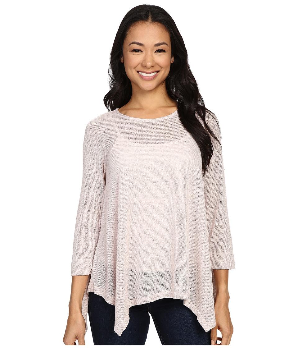 B Collection by Bobeau - Langely Long Sleeve Hanky Hem (Blush) Women's Sweater