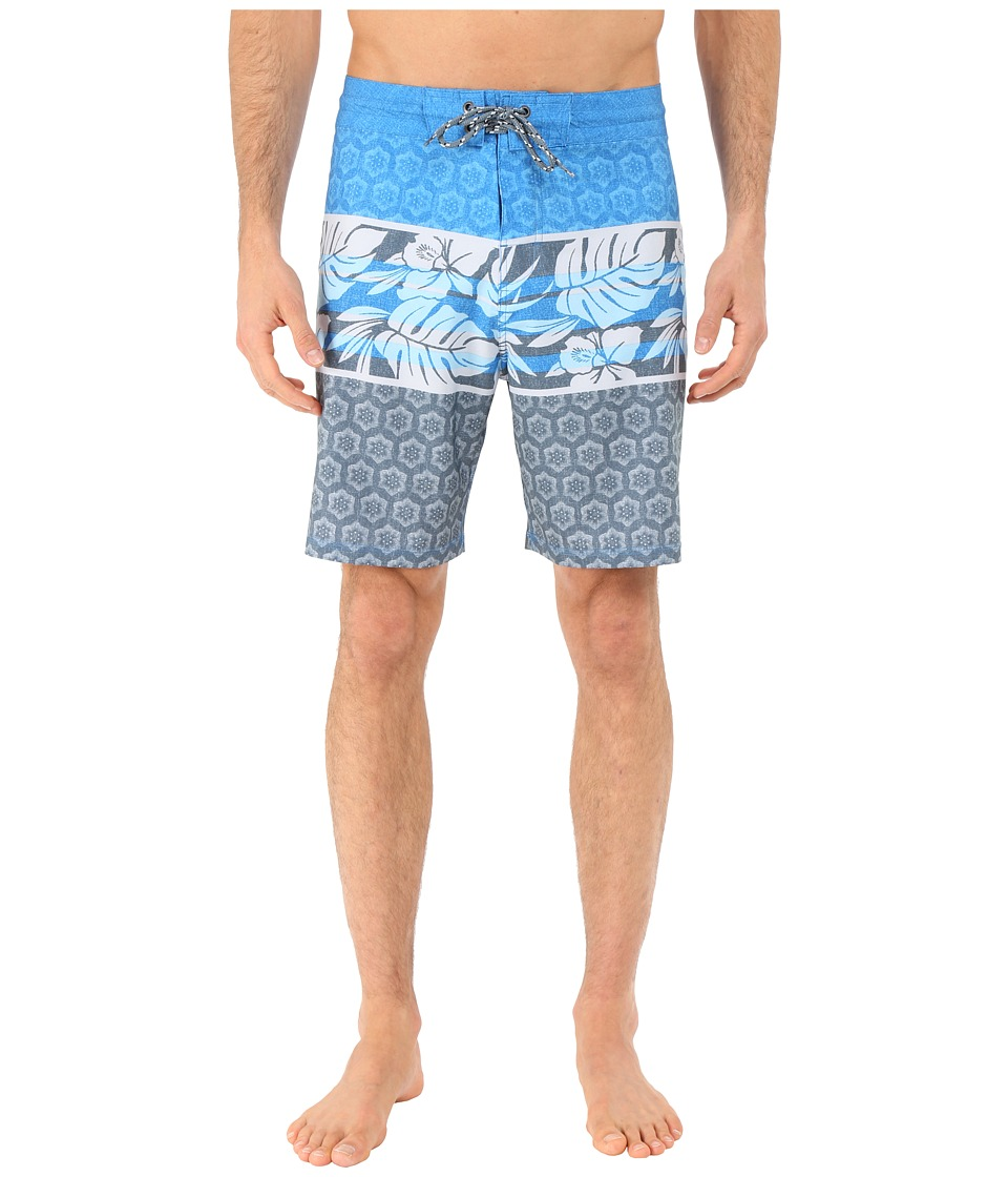 Body Glove - Vaporskin Lotus Boardshorts (Blue) Men's Swimwear