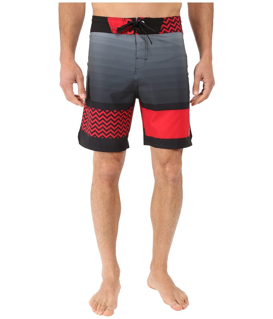 Body Glove - Vaporskin Side Wayz Boardshorts (Infrared) Men's Swimwear