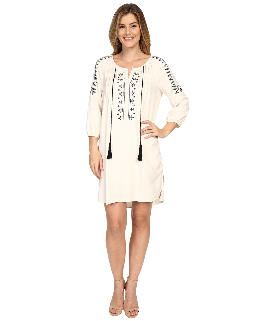 B Collection by Bobeau - Flynn Embroidered Tunic Dress (Ivory) Women's Dress