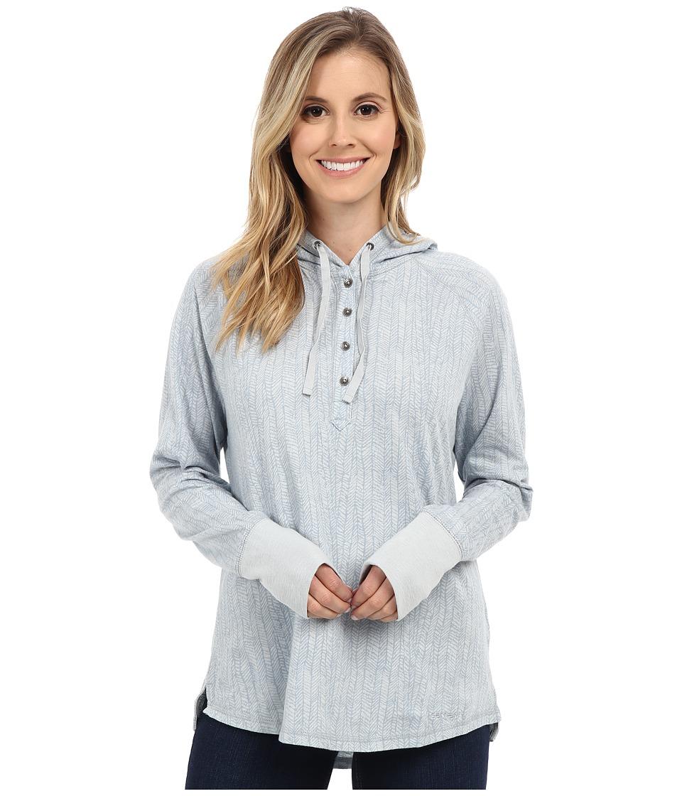 Carhartt - Coleharbor Hoodie Printed (Pearl Blue) Women's Sweatshirt