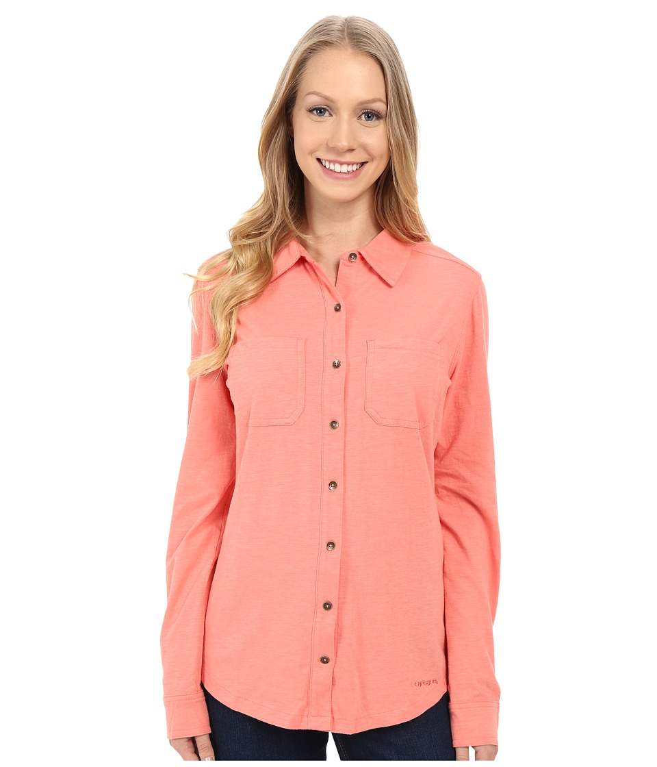 Carhartt - Medina Shirt (Burnt Coral) Women's Clothing