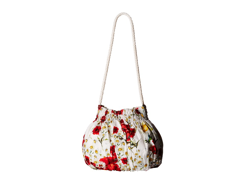 Dolce & Gabbana Kids - Poplin Printed Handbag (Little Kids/Big Kids) (Rose Print) Shoulder Handbags