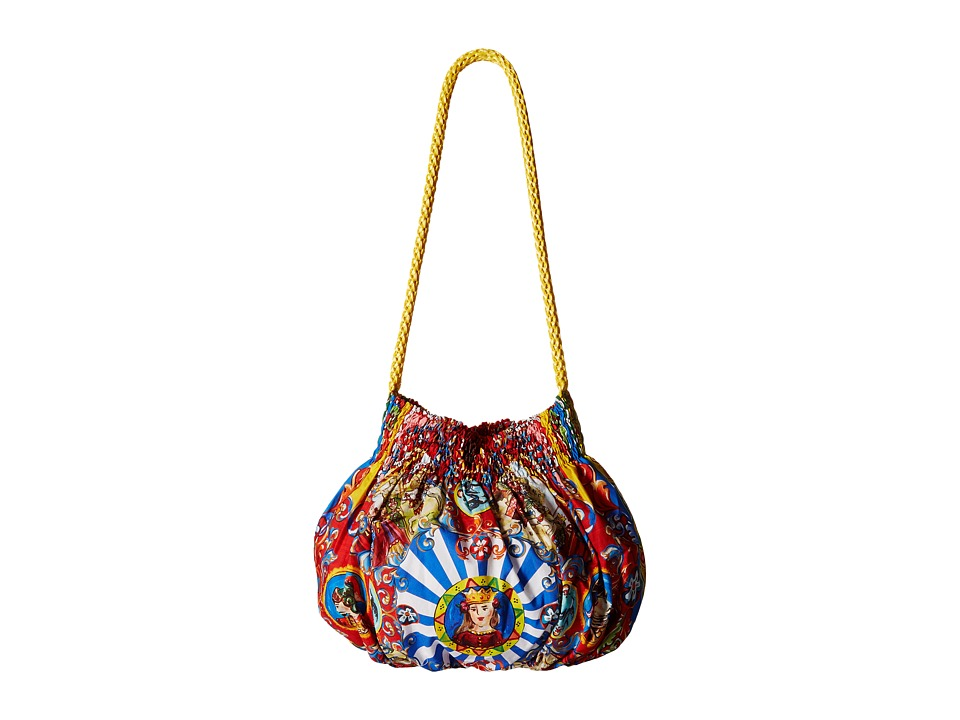 Dolce & Gabbana Kids - Poplin Wheel Print Handbag (Little Kids/Big Kids) (Multi) Shoulder Handbags
