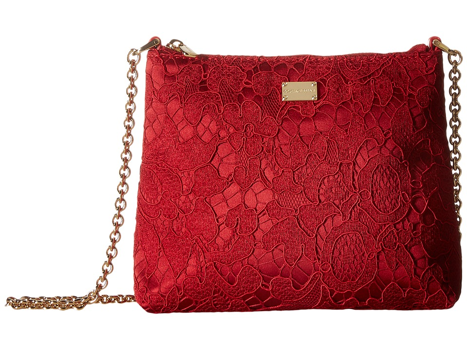 Dolce & Gabbana Kids - Lace Handbag (Little Kids/Big Kids) (Red) Handbags