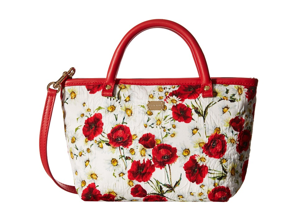 Dolce & Gabbana Kids - Broccade Shopper (Little Kids/Big Kids) (Rose Print) Handbags
