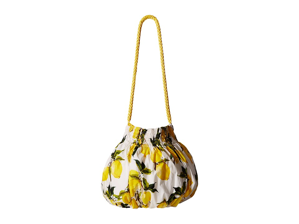 Dolce & Gabbana Kids - Poplin Printed Handbag (Little Kids/Big Kids) (Lemon Print) Shoulder Handbags
