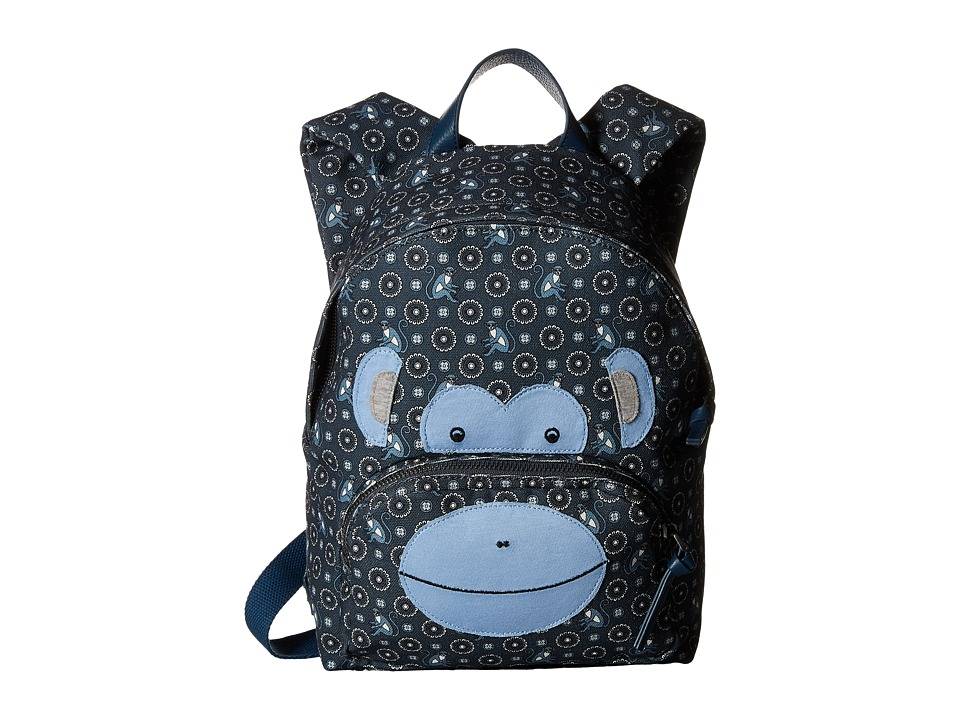 Dolce & Gabbana Kids - Monkey Backpack (Little Kids/Big Kids) (Blue) Backpack Bags