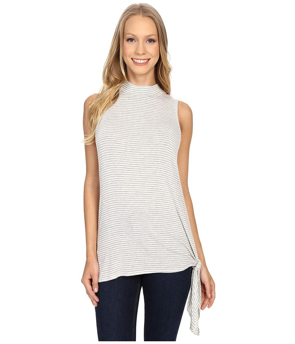 B Collection by Bobeau - Dree Mock Neck w/ Side Tie (Grey) Women's T Shirt